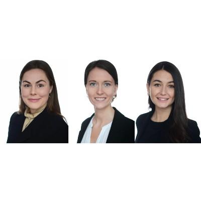 Aisha Irma Ramadanovic, Maria Harboe Frederiksen og Marie Minor Andersen